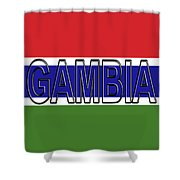 Flag Of The Gambia Word. Shower Curtain