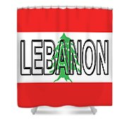 Flag Of Lebanon Word Shower Curtain