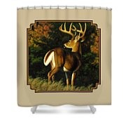 Whitetail Buck - Indecision Shower Curtain