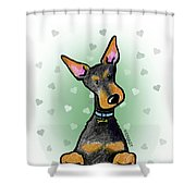 Dobie With Love Shower Curtain