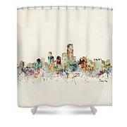 Jersey City New Jersey Skyline Shower Curtain