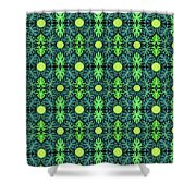 Monstera Leaves Pattern Shower Curtain