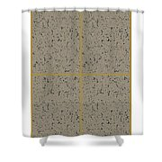 Earthtexturegold Shower Curtain