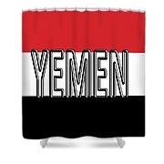 Flag Of The Yemen Word Shower Curtain
