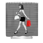 Stripes In Fashion Shower Curtain