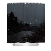 Snow Flakes By Little River Stowe Vermont Shower Curtain