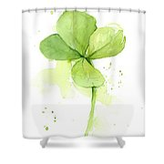 Clover Watercolor Shower Curtain