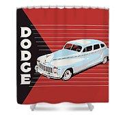 Dodge Showroom Poster Shower Curtain