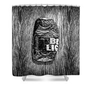 Crushed Blue Beer Can On Plywood 78 In Bw Shower Curtain