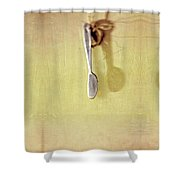 Hanging Knife On Jute Twine Shower Curtain