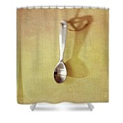 Hanging Spoon On Jute Twine Shower Curtain