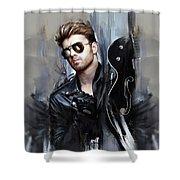 George Michael Singer Shower Curtain