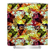 Graffiti Style - Markings On Colors Shower Curtain