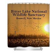 Bitter Lake National Wildlife Refuge Birds, Roswell, New Mexico Shower Curtain