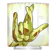 Asl I Really Love You Camouflage Shower Curtain