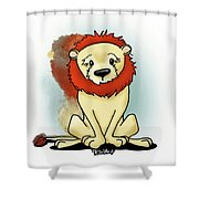 Lion Peaceful Reflection  Shower Curtain