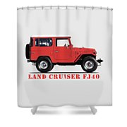 The Land Cruiser Fj40 Shower Curtain