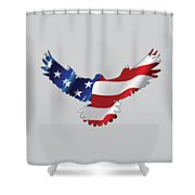 Stars And Striped Eagle Shower Curtain