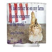 Patriotic Hen Shower Curtain