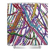 Dancing Dna Shower Curtain