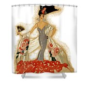 Elegant Woman Shower Curtain