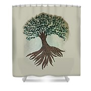 Embroidered Tree Shower Curtain