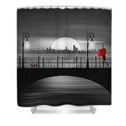 Summer Rain At The Bridge Shower Curtain