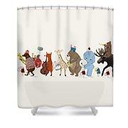 Big Parade Shower Curtain