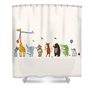 Little Parade Shower Curtain