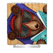 B Is For Brown Bear Shower Curtain