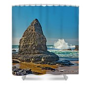 Rock Stack On The Costa Viicentina, Portugal Shower Curtain