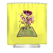 Rocky Mountain Bee Plant Shower Curtain