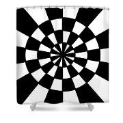 Op Art Shower Curtain