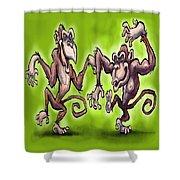 Monkey Dance Shower Curtain