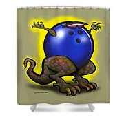 Bowling Beast Shower Curtain