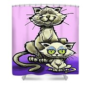 Cat N Kitten Shower Curtain