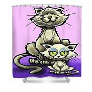 Cat N Kitten Shower Curtain