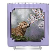 Wolf Pup - Baby Blossoms Shower Curtain