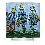 Blues Bonnets Shower Curtain