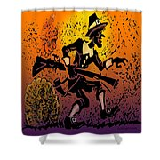 Thanksgiving Pilgrim Shower Curtain