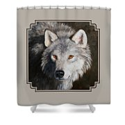 Wolf Portrait Shower Curtain by Crista Forest