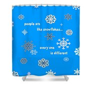 Snowflakes 5 Shower Curtain