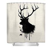 Elk Shower Curtain by Nicklas Gustafsson