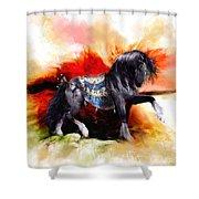 Kachina Hopi Spirit Horse  Shower Curtain