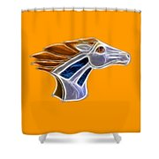 Glowing Bronco Shower Curtain