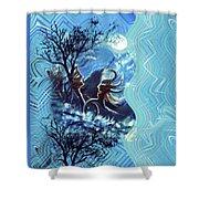 Love For Moon Light Shower Curtain