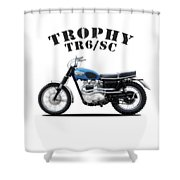 Triumph Trophy Tr6 Shower Curtain