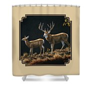 Mule Deer Ridge Shower Curtain