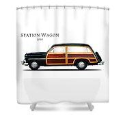 Mercury Station Wagon 1950 Shower Curtain by Mark Rogan