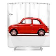 Fiat 500 R 1972 Shower Curtain by Mark Rogan
